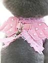 Собака Ремни Поводки Компактность Складной Регулируется Однотонный Ткань