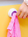 1pc pano de limpeza puxao suspensao sucker suporte prato de armazenamento rack banheiro cozinha armazenamento gancho toalha de mao