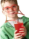 2PCS Straw Glasses Unique Flexible Drinking Tube Kids Party Bar Accessories