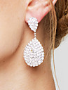 Women\'s Drop Earrings Rhinestone Bridal Elegant Luxury Rhinestone Silver Plated Drop Teardrop Jewelry For Wedding Party Anniversary Gift