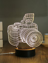 1 Set, Popular Home Acrylic 3D Night Light LED Table Lamp USB Mood Lamp Gifts, Camera