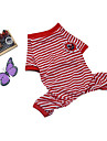 Dog Pajamas Dog Clothes Casual/Daily Stripe Rose Pink Rose Red Blue Blushing Pink