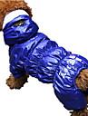 Cachorro Macacao Roupas para Caes Casual Coracoes Cinzento Vermelho Azul
