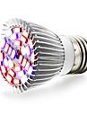 1шт 6W 800 lm E27 Растущие лампочки 28 светодиоды SMD 5730 Тёплый белый UV (лампа черного света) Синий Красный AC 85-265V
