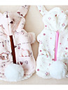 Chien Manteaux Vetements pour Chien Decontracte / Quotidien Solide Blanc Beige Gris Violet Costume Pour les animaux domestiques