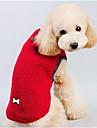 Собака Свитера Одежда для собак На каждый день Сплошной цвет Красный Синий