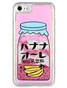 Etui pour Apple iphone 7 plus iphone 7 couverture fluide liquide motif couverture arriere mot / phrase fruit glitter shine hard pc pour