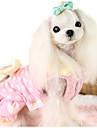 Dog Dress Dog Clothes Casual/Daily Princess Yellow Blushing Pink