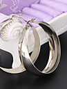 Women\'s Hoop Earrings Jewelry Basic Costume Jewelry Stainless Steel Circle Jewelry For Wedding Party Stage Street Office & Career