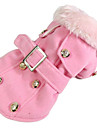 Dog Coat Dog Clothes Casual/Daily American/USA Beige Gray Yellow Red Blushing Pink