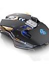 Проводное Gaming Mouse Регулируемый вес DPI Регулируемая Подсветка Многофункциональный 1200/1600/2400/3200