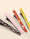 Long Paragraph Printed One Word Clip Korean Version of the Fashion Side of the Korean Jewelry Bangs Folder Hairpin Mixed With 10PCS