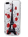 For iPhone X iPhone 8 Case Cover Ultra-thin Pattern Back Cover Case Eiffel Tower Flower Soft TPU for Apple iPhone X iPhone 8 Plus iPhone