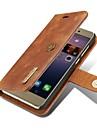 Coque Pour Huawei P9 P10 Portefeuille Porte Carte Clapet Magnetique Coque Integrale Couleur unie Dur Vrai Cuir pour Huawei P10 Plus