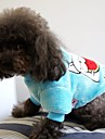 Собака Толстовка Одежда для собак Плюшевая ткань Весна/осень Зима На каждый день Мультфильмы Синий Розовый Для домашних животных