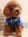Собака Футболка Одежда для собак На каждый день В клетку Красный Зеленый Синий