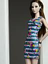 Vestiti Abiti Per Barbiedoll Misto Seta / Cotone Abito Per Ragazza Bambola giocattolo