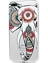 Para iPhone X iPhone 8 Case Tampa Ultra-Fina Estampada Capa Traseira Capinha Elefante Macia PUT para Apple iPhone X iPhone 8 Plus iPhone
