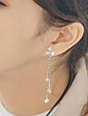 Femme Boucles d\'oreille goujon Boucles d\'oreille goutte Zircon cubique Mode Hypoallergique Acier inoxydable Zircon Forme Geometrique
