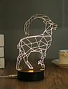 1 Set, Popular Home Acrylic 3D Night Light LED Table Lamp USB Mood Lamp Gifts, Antelope
