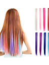 Clip In One Piece Hair Extensions Synthetic 9 Colors 22inch Straight Pink Green Purple Blue Blonde Red Hair Pieces