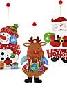 1pc Bonhomme de Neige Santa Vacances Stickers Ornements Vacances, Decorations de vacances Ornements de vacances
