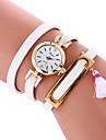 Жен. Модные часы Часы-браслет Кварцевый PU Группа Cool Повседневная Черный Белый Розовый Бежевый