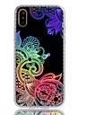 Etui Käyttötarkoitus Apple iPhone X / iPhone 8 Plus Pinnoitus / IMD / Kuvio Takakuori Lace Printing / Kukka Pehmeä TPU varten iPhone X / iPhone 8 Plus / iPhone 8