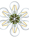 6PCS 2W E27 LED Filament Bulbs A60(A19) 2 leds COB Decorative Warm White Cold White 180lm 2200-6500K AC 220-240V