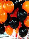 Combo de balao de Halloween de 50 pecas com 10 polegadas 2.2 gramas de baloes de laranja e preto grossos inferiores inferiores