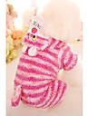 Chien Combinaison-pantalon Vetements pour Chien Decontracte / Quotidien Rayure Bleu Rose Costume Pour les animaux domestiques