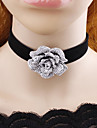 Жен. Ожерелья-бархатки Бижутерия В форме цветка Фланелет обожаемый Классика Бижутерия Назначение Повседневные Для сцены