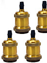 4pcs e26 / e27 소켓 나사 라이트 소켓 펜던트 도자기 라이트 소켓 완료 고정물 교체 산업 빈티지 DIY 프로젝트