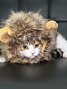 Cat Toy Pet Toys Wig Cute Halloween Christmas Lion Mane Faux Fur For Pets