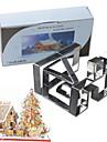7pcs / set куки-резаки 3d пряничный дом рождественский оттенок стальной помадной формы торта