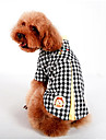 Dog Shirt / T-Shirt Dog Clothes Casual/Daily Plaid/Check Yellow