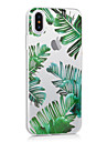 Pour iPhone X iPhone 8 iPhone 8 Plus Etuis coque Ultrafine Transparente Motif Coque Arriere Coque Arbre Flexible PUT pour Apple iPhone X