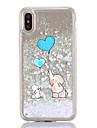 For iPhone X iPhone 8 Case Cover Flowing Liquid Transparent Pattern Back Cover Case Cartoon Elephant Hard Plastic for Apple iPhone X