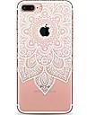 제품 iPhone 7 iPhone 7 Plus 케이스 커버 울트라 씬 투명 패턴 뒷면 커버 케이스 만다라 레이스 인쇄 소프트 TPU 용 Apple 아이폰 7 플러스 아이폰 (7) iPhone 6s Plus iPhone 6 Plus iPhone