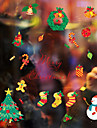 ארט דקו חג מולד מדבקה לחלון, PVC/Vinyl חוֹמֶר קישוט חלון חדר אוכל חדר מגורים