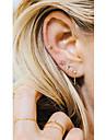 여성용 태슬 스터드 귀걸이 / 드랍 귀걸이 - 하트, 별 술 골드 / 실버 제품 캐쥬얼 / 클럽