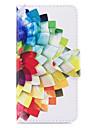 Capinha Para Samsung Galaxy J7 (2017) J3 (2017) Carteira Porta-Cartao Com Suporte Flip Estampada Corpo Inteiro Flor Rigida Couro Ecologico