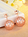 Women\'s Ball Stud Earrings Imitation Pearl Earrings Friends Ladies Basic Jewelry Gold / Silver / Rose Gold For Daily Date
