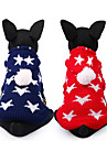 Dog Sweater Dog Clothes Stars Red Blue Chinlon Costume For Pets Casual/Daily