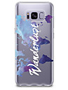 Case For Samsung Galaxy S8 Plus S8 Transparent Pattern Back Cover Word / Phrase Soft TPU for S8 S8 Plus S7 edge S7 S6 edge plus S6 edge