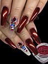 0.15g / pcs natal vermelho unha glitter em po brilhante efeito efeito espelho nail art