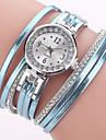 Mulheres Relogio de Moda Bracele Relogio Simulado Diamante Relogio Chines Quartzo imitacao de diamante PU Banda Pendente Casual Elegantes