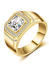 Муж. Классические кольца Стразы Цирконий Стразы Титановая сталь Круглый Бижутерия Назначение Свадьба Для вечеринок