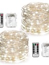 2Pack Fairy String Lights Battery Operated Waterproof 8 Modes 100LED 10M Copper Wire Firefly Lights Remote Control