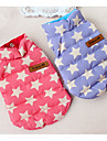 Dog Vest Puffer / Down Jacket Dog Clothes Warm Christmas Casual/Daily Stars Blue Pink Costume For Pets
